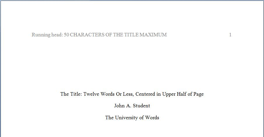 Journal article review title page  Book reports primary First Manuscript Title Page      toc