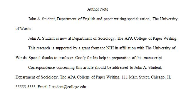 Apa  Manuscript Preparation Guidelines